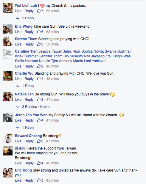 Screenshot from City Harvest Church Facebook page