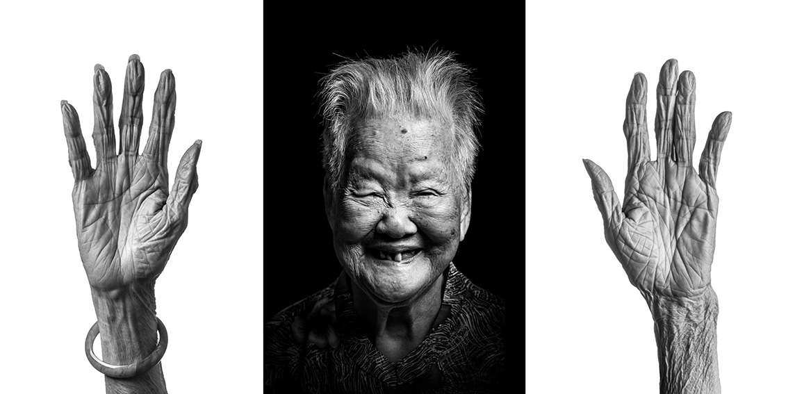 Mow Ah Chong, 92, from Dongguan district in Guangdong province, China. Arrived in Singapore in her early 20s. She made a living as a farmer, selling the vegetables from her farm in Potong Pasir to the local markets. farming life was arduous, as she recalled a flood in her area which killed three people. She retired after 30 years to stay home and care for her family.