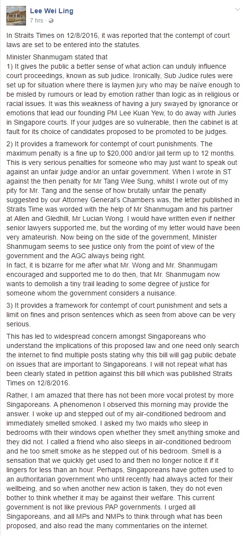 FireShot Capture 3 - (1) Lee Wei Ling - In Straits Times on_ - https___www.facebook.com_weiling.le