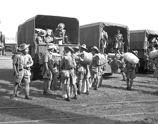 A visit of Gurkha soldiers at the docks in 1950. Taken from National Archives Online.