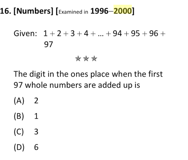 Source: Singapore PSLE Mathematics Extreme Drill Questions