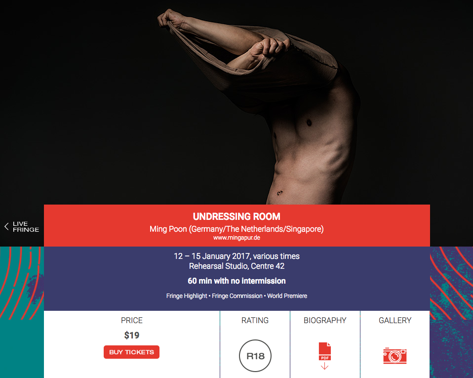Screenshot from M1 Fringe Festival website