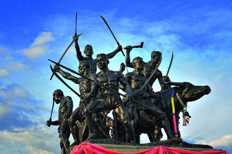 Bang Bachan monument at Sing Buri, Thailand. Source.