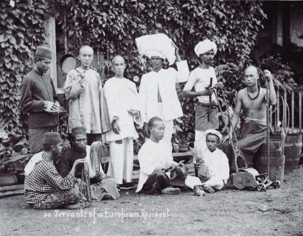 Servants for a colonial household. Source.