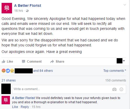 apology better florist