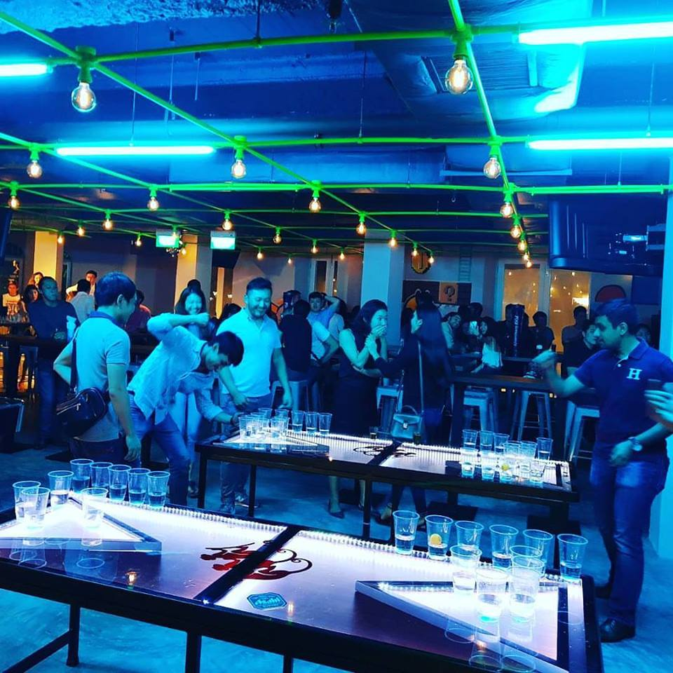 Level Up Arcade Bar In Clarke Quay Features Alcohol
