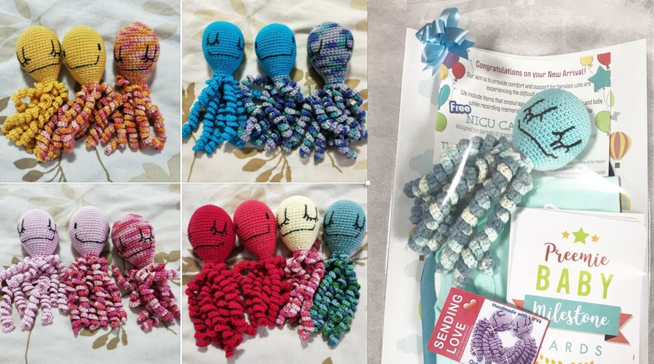 toy octopuses for premature babies
