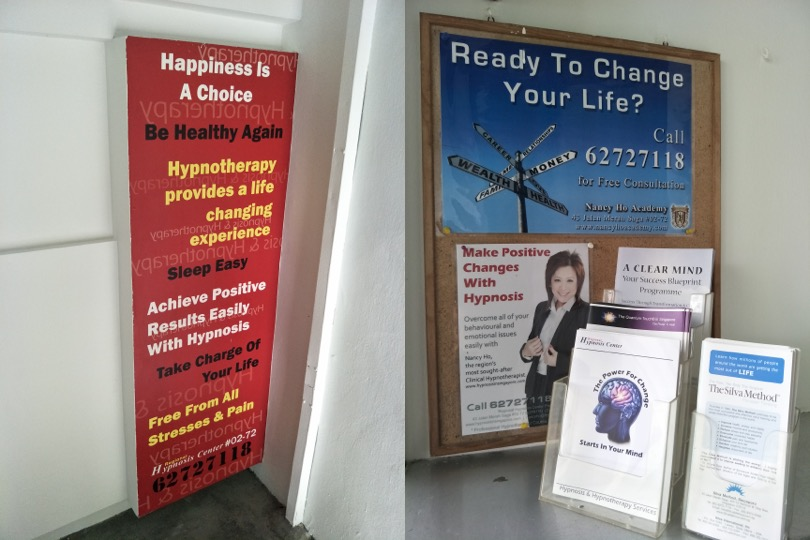 Yes, there are actual hypnotherapists in Singapore. And I ...