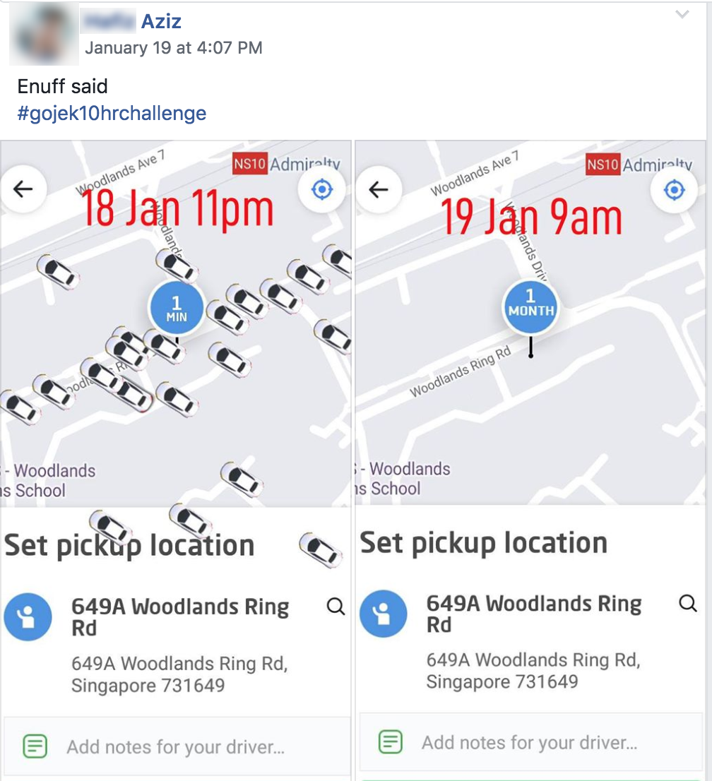 Go Jek Singapore: Go-Jek Driver Cancelled Trip From Marina Barrage Even