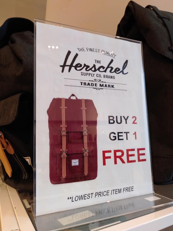 Herschel backpack sale at Star Vista has buy 2 get 1 free ...