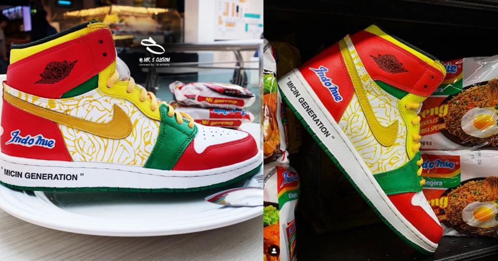 Indomie Air Jordan sneakers designed by