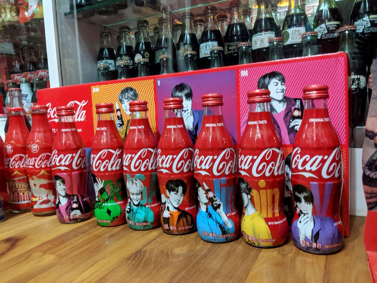 bts coca cola bottle