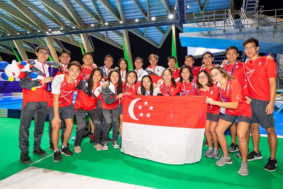 SEA Games Team Singapore swimmers