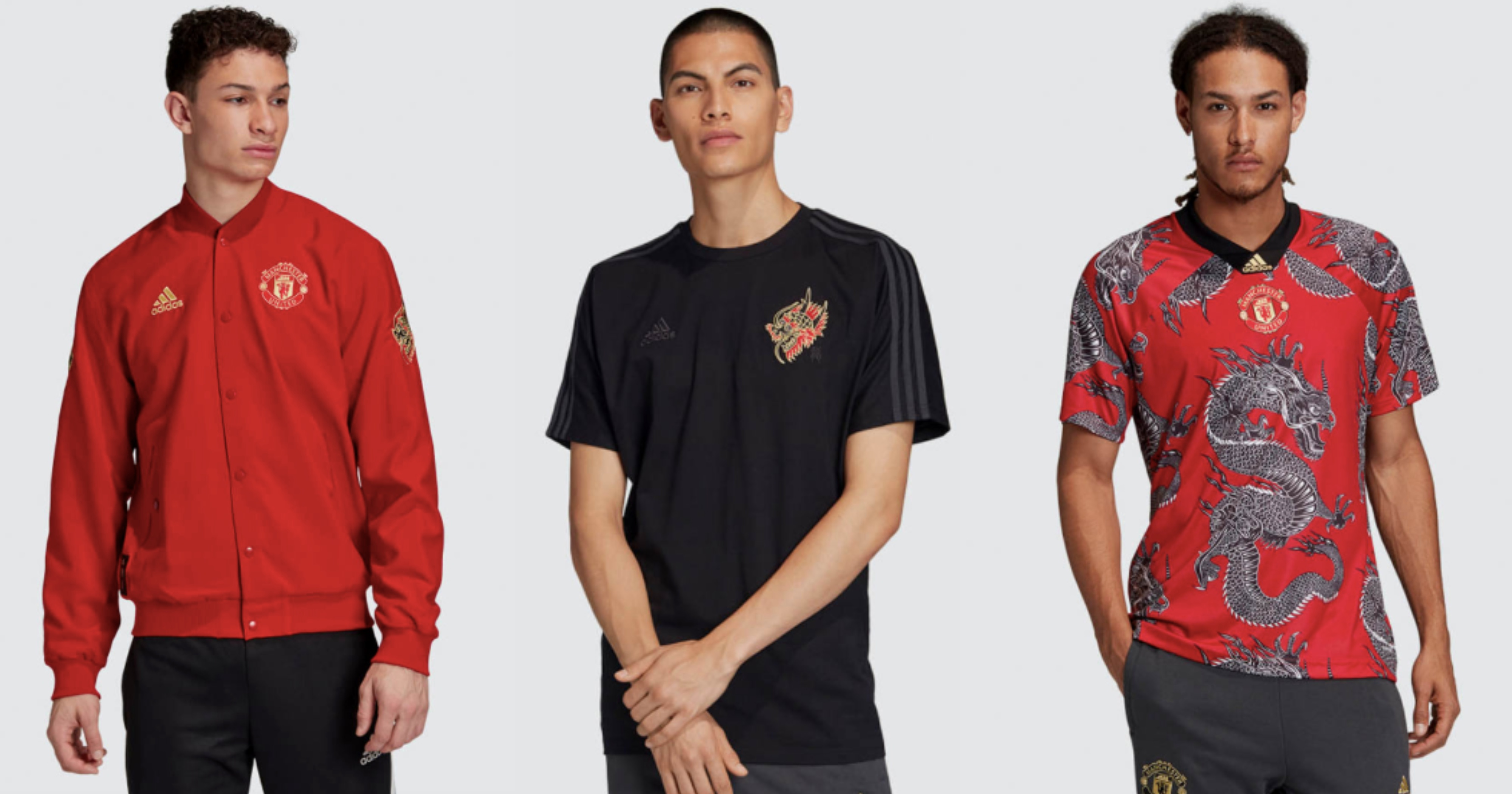 Adidas launches Manchester United dragon printed kits for Chinese ...