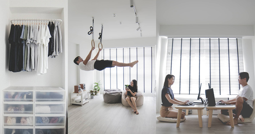 S Pore Couple Transforms 3 Room Hdb Flat Into Ultra Minimalist Home Mothership Sg News From Singapore Asia And Around The World