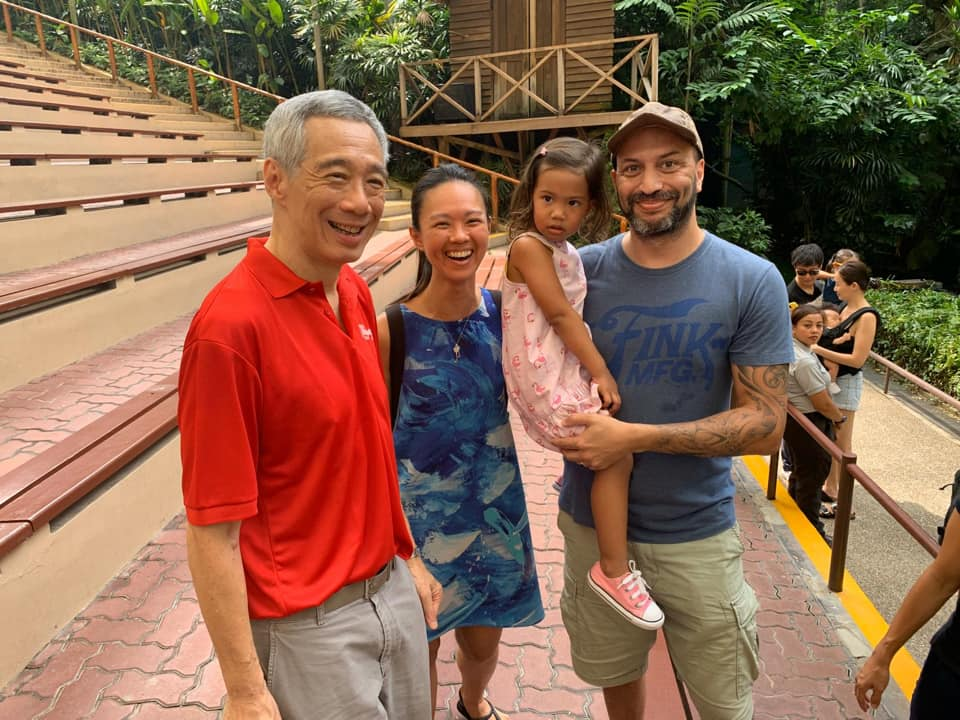 PM Lee and Jurong Bird Park visitors