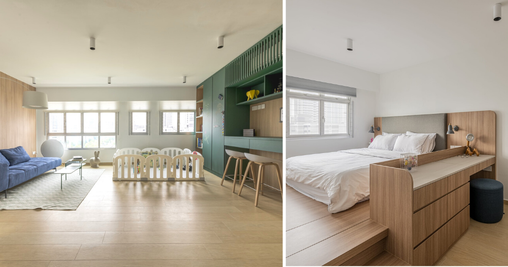 4 Room Bto Flat In Boon Keng Transformed Into Spacious Minimalist Child Friendly Home Mothership Sg News From Singapore Asia And Around The World