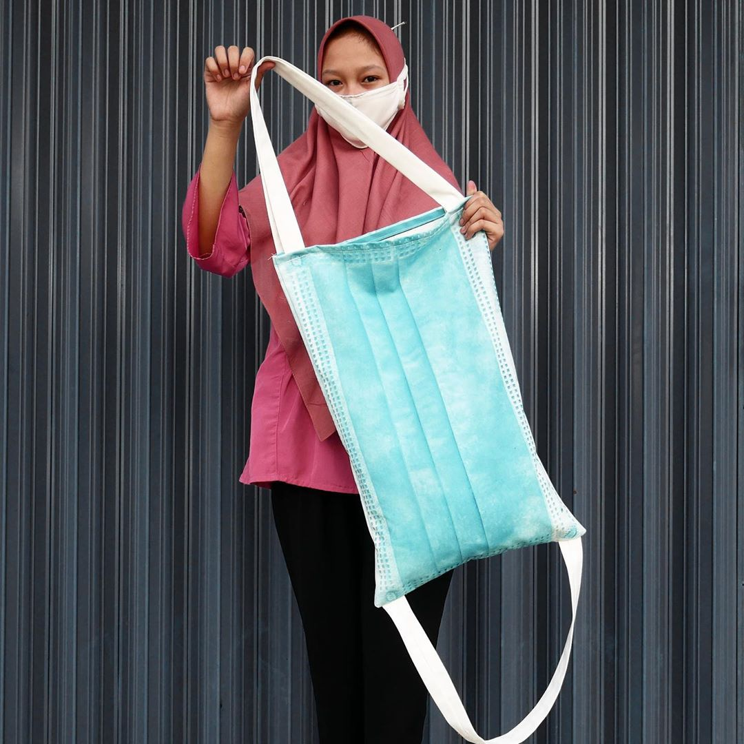 surgical mask tote bag indonesia