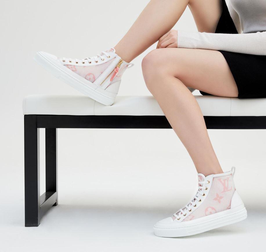 louis vuitton pink sneakers