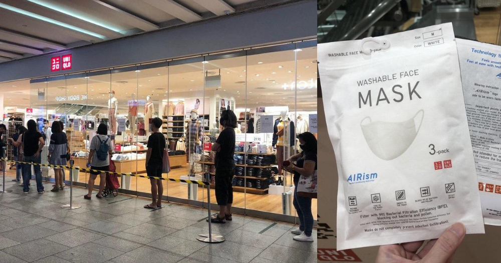 S'poreans form long queues outside Uniqlo Jem for AIRism mask - Mothership.SG - News from Singapore, Asia and around the world