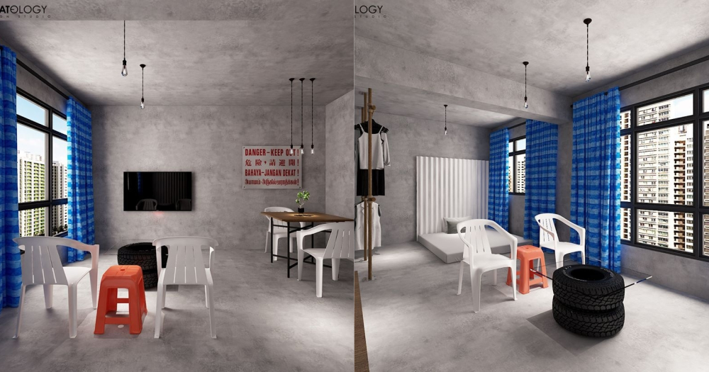 Hdb Flat Designed To Look Like Construction Site Because Industrial Look Taken Literally Mothership Sg News From Singapore Asia And Around The World