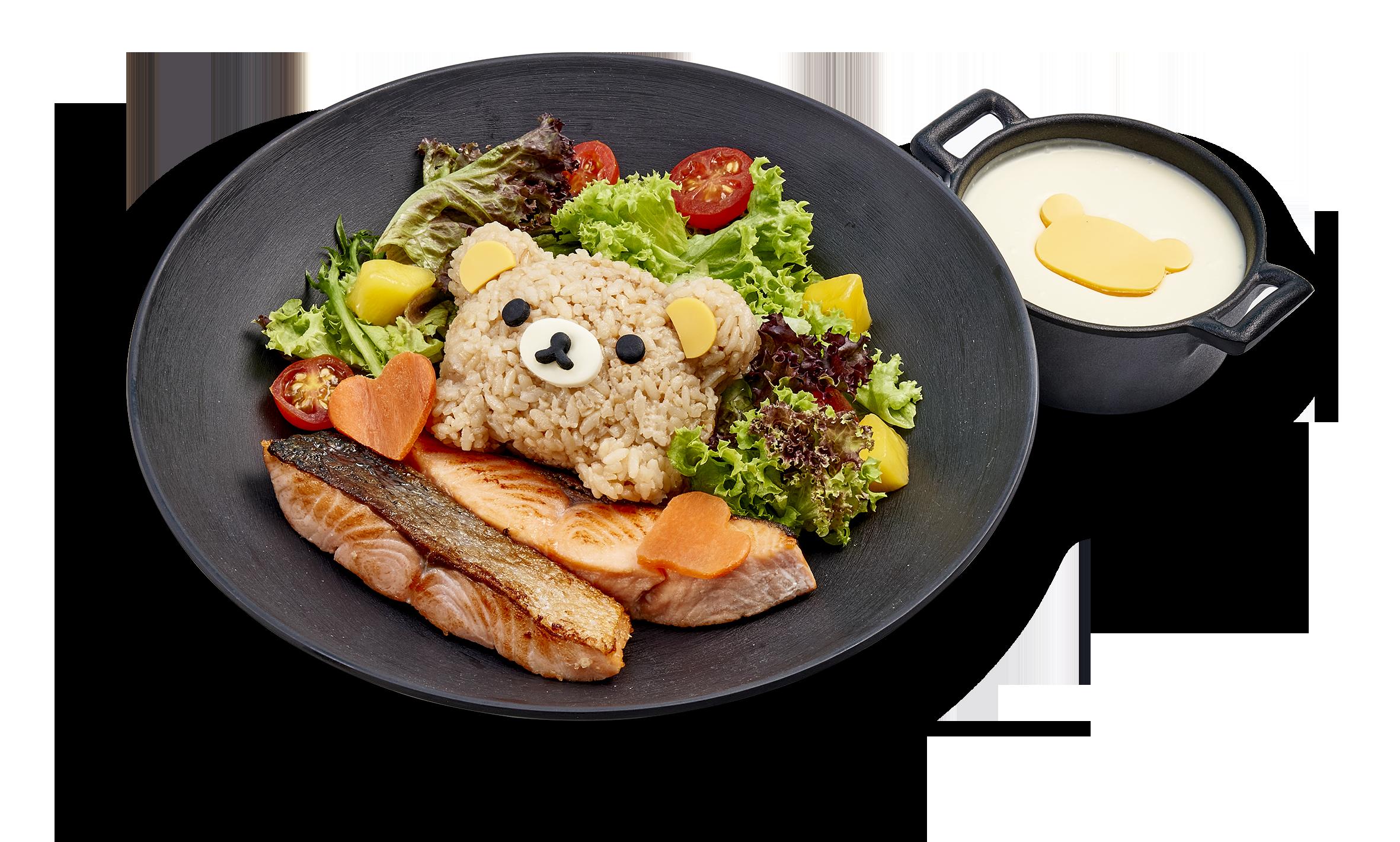 懶懶熊主題快閃咖啡廳將在新加坡開辦! Grilled_salmon_rice