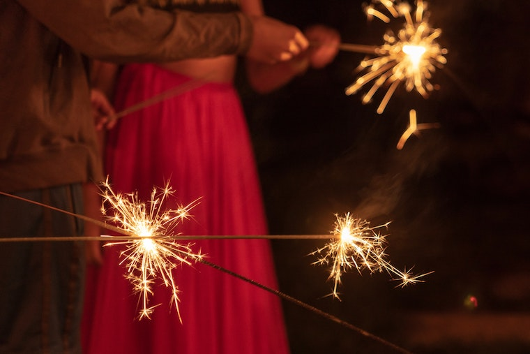 photo of deepavali sparklers