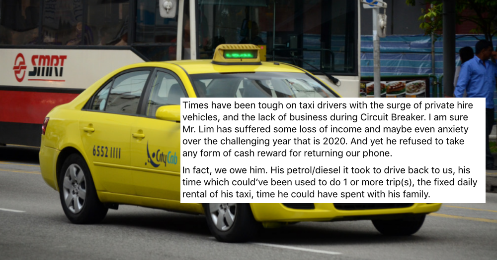 Citycab driver makes U-turn to return phone to passenger, rejects S reward