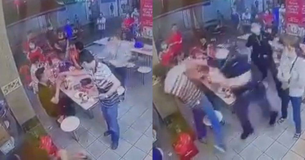 Fight breaks out at Whampoa hawker centre after man, 56, confronts 9 people sitting at a table