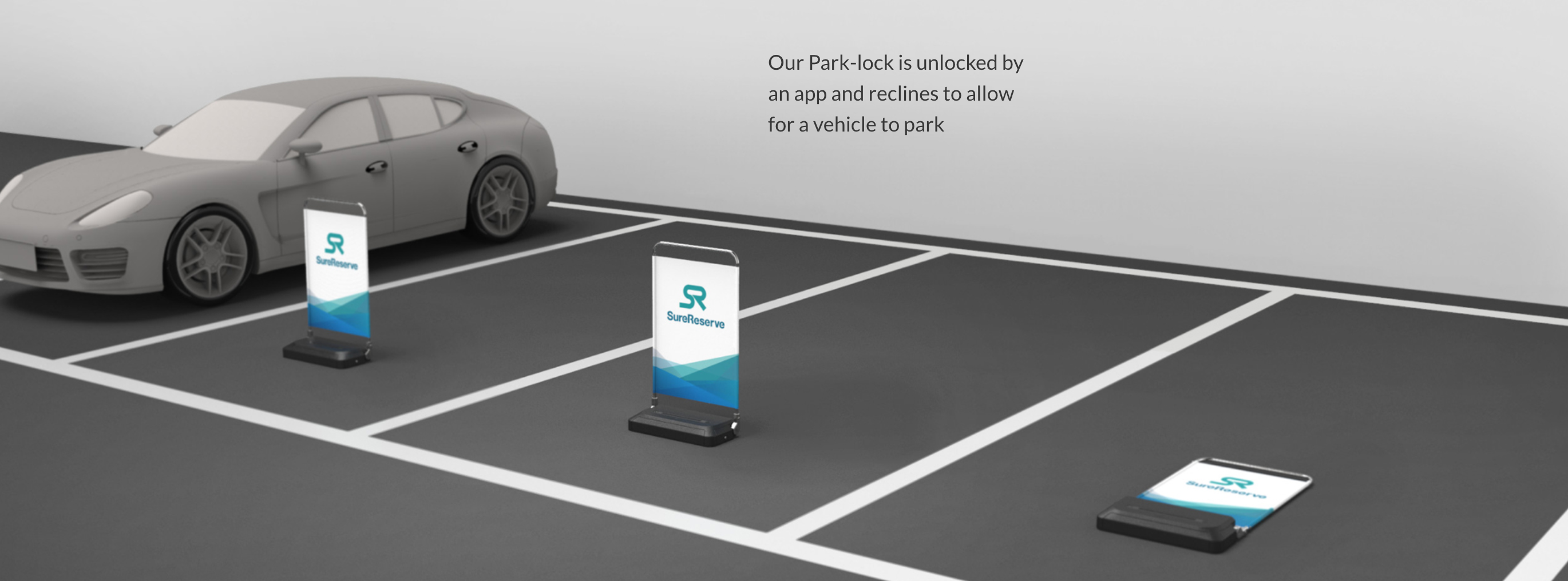 Image of SureReserve's parking barriers