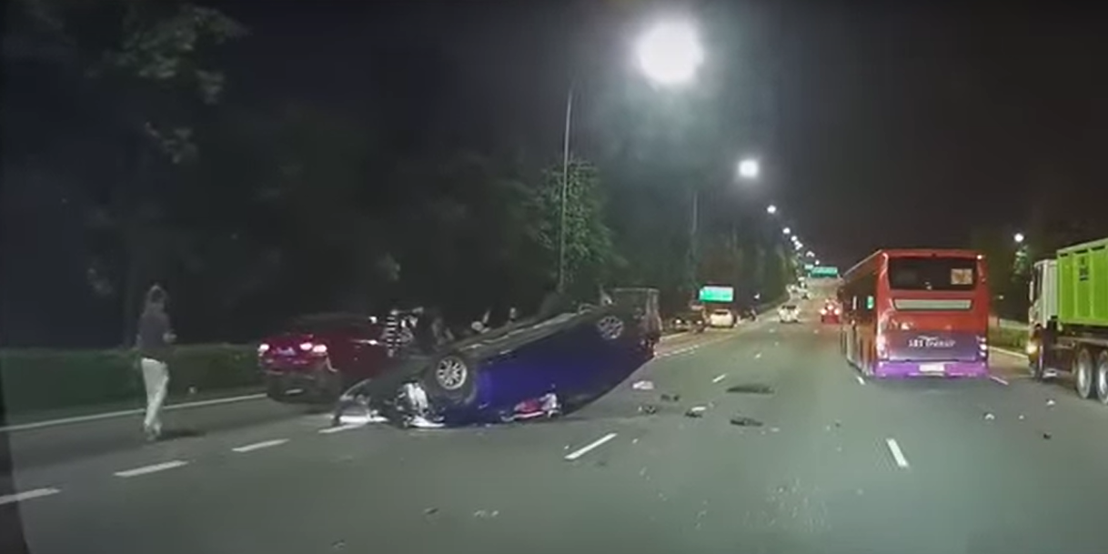 Car flips on CTE sending 2 to hospital, suspected drunk ...