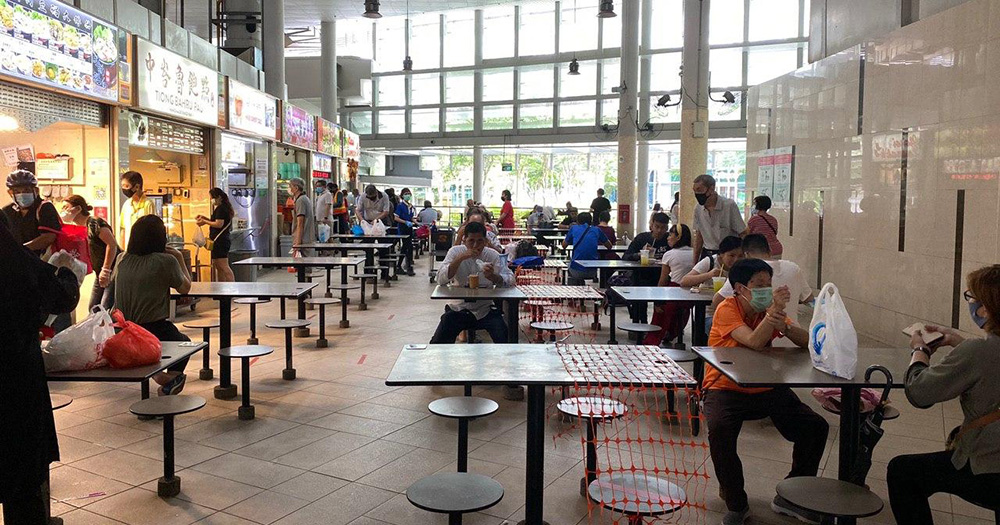 Diners who don't clear dirty trays & crockery at S'pore hawker centres face enforcement action from Sep. 1 - Mothership.SG - News from Singapore, Asia and around the world