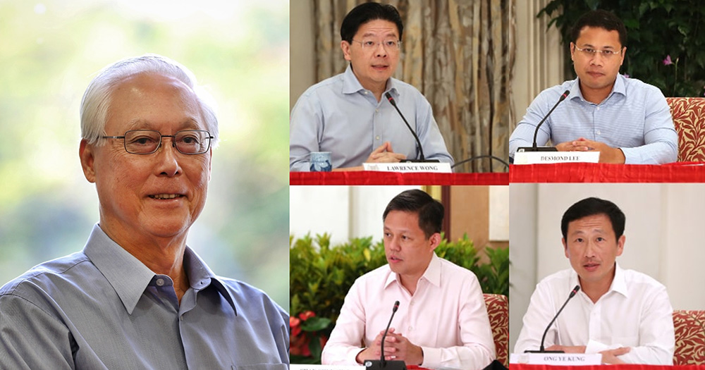 Goh Chok Tong to fellow S'poreans: Give the 4G team 'some time' to decide their first among equals