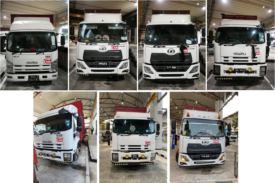 Image of Malaysian lorries caught smuggling vapes