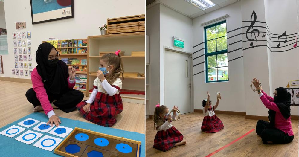 Image of Nurhayati Binte Sani teaching at preschool